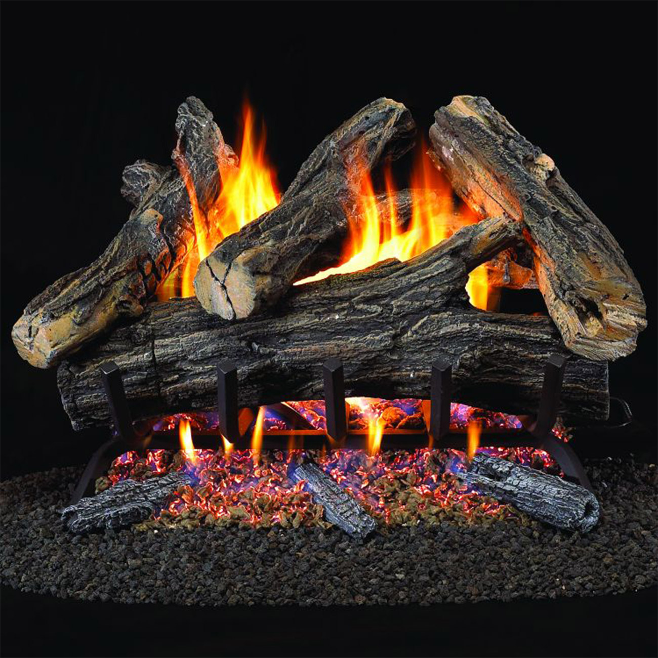 Top Vented Gas Logs