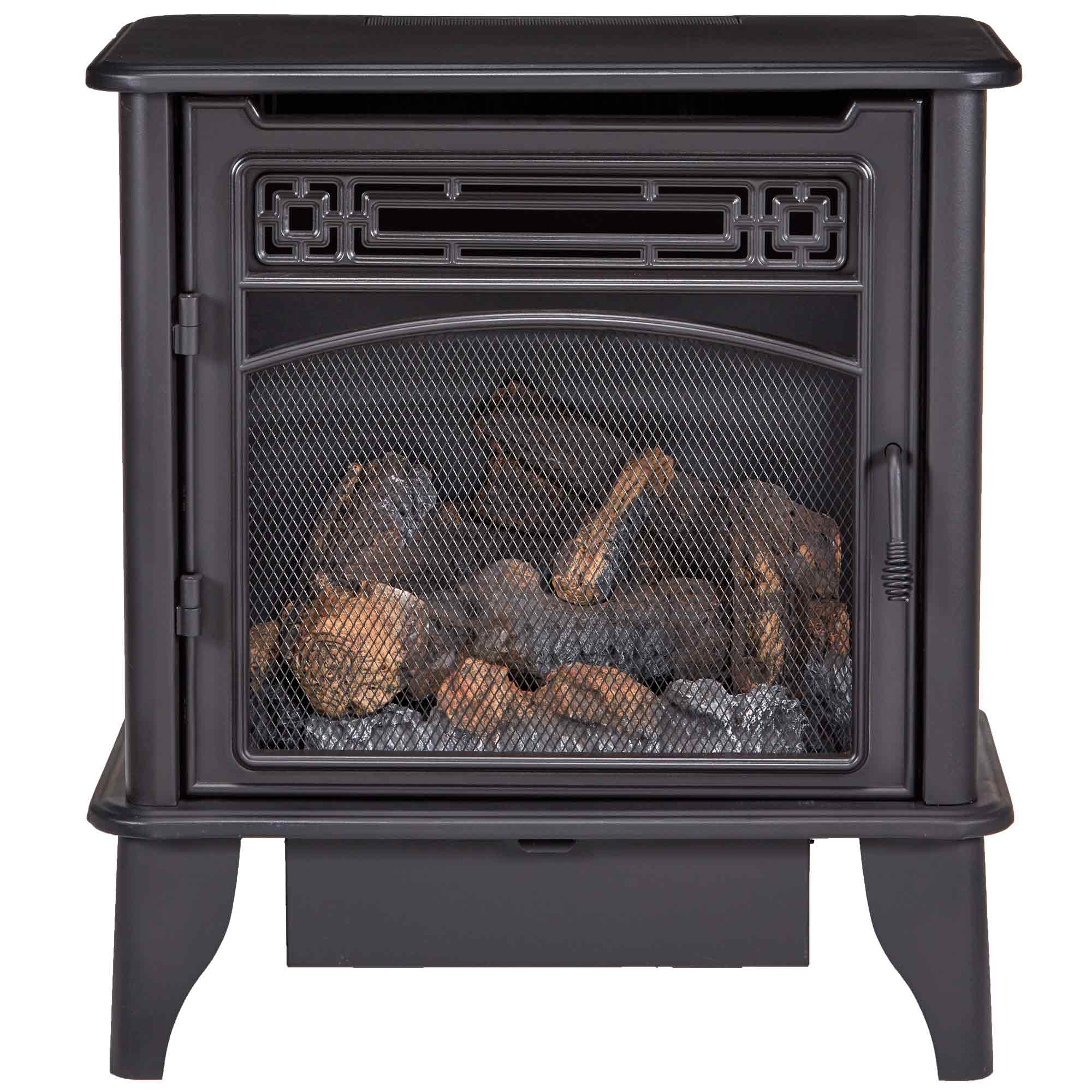 Gas Stove 3 Sided Black Dual Fuel With Remote Control