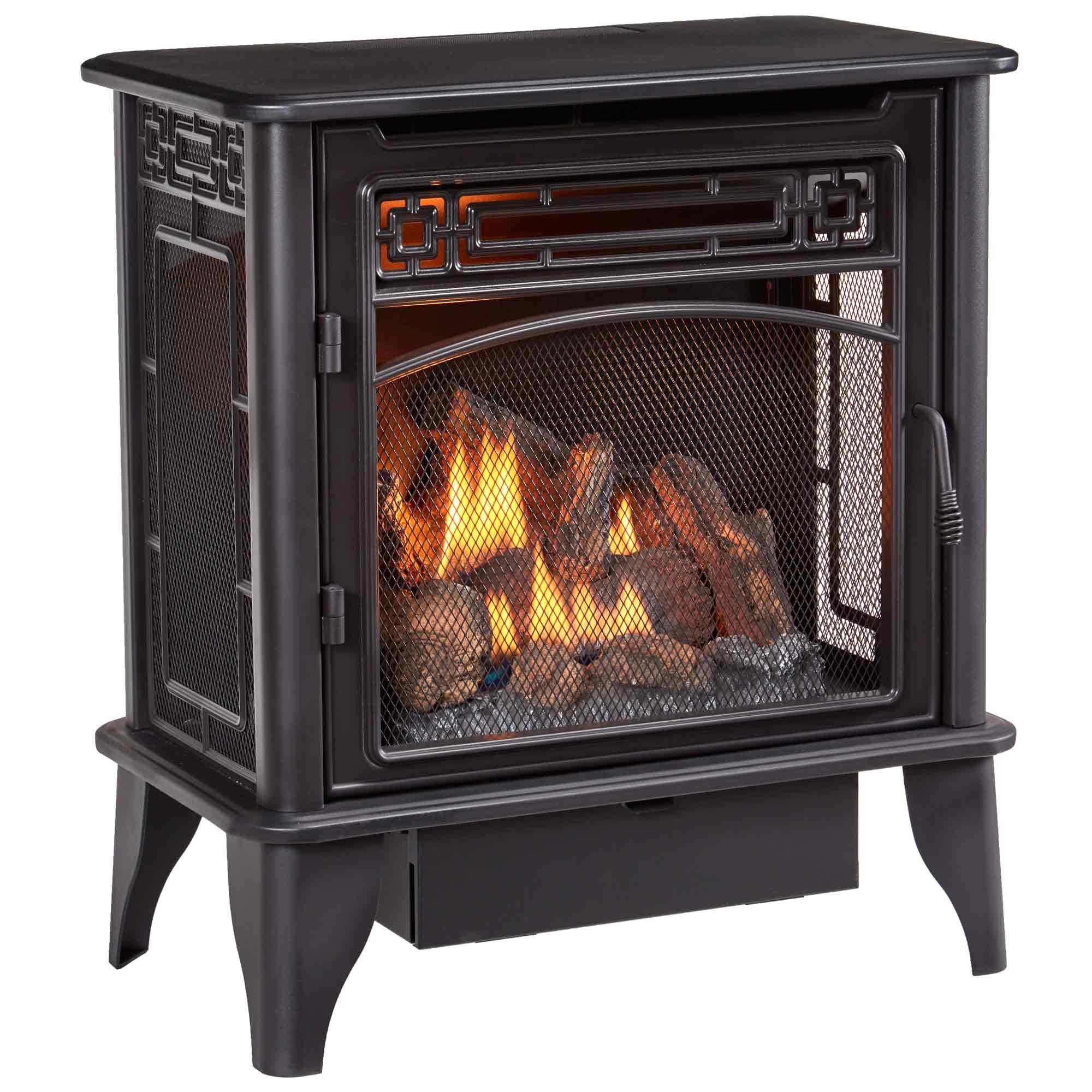 Gas Stove 3-Sided Dual Fuel Black - 23,000 BTU - ProCom ...