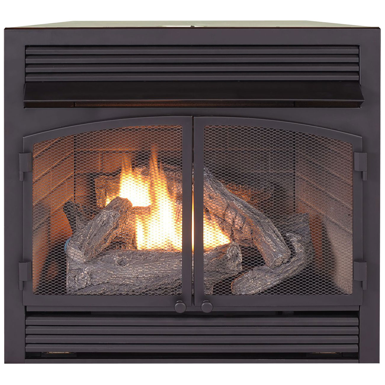 Wondrous Dual Fuel Fireplace Insert Zero Clearance 32 000 Btu Procom Heating Home Interior And Landscaping Ponolsignezvosmurscom