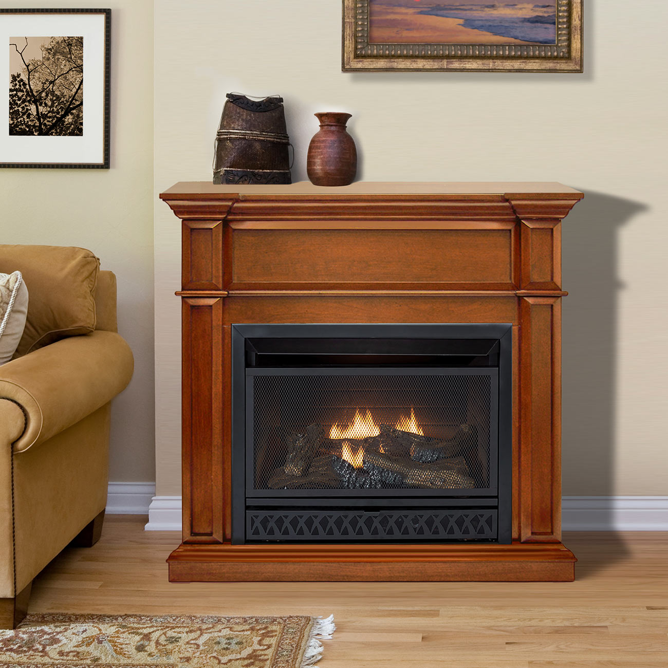 Fireplace Doesnt Heat: HearthSense Ventless Fireplace Are 99.9 Percent Energy