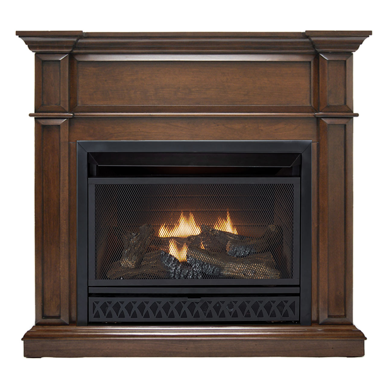 Ventless Fireplace: HearthSense Ventless Fireplace System With Dual Fuel
