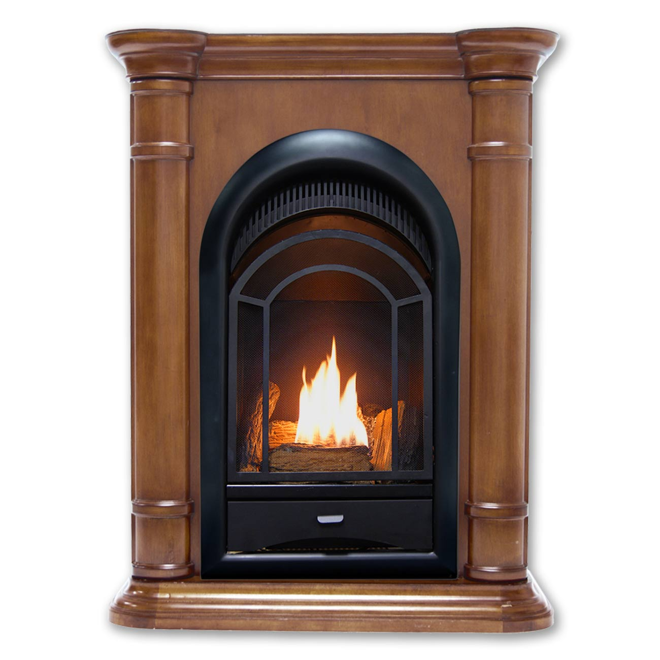 Fireplace Doesnt Heat: HearthSense Dual Fuel Ventless Fireplace, 15,000 BTU's