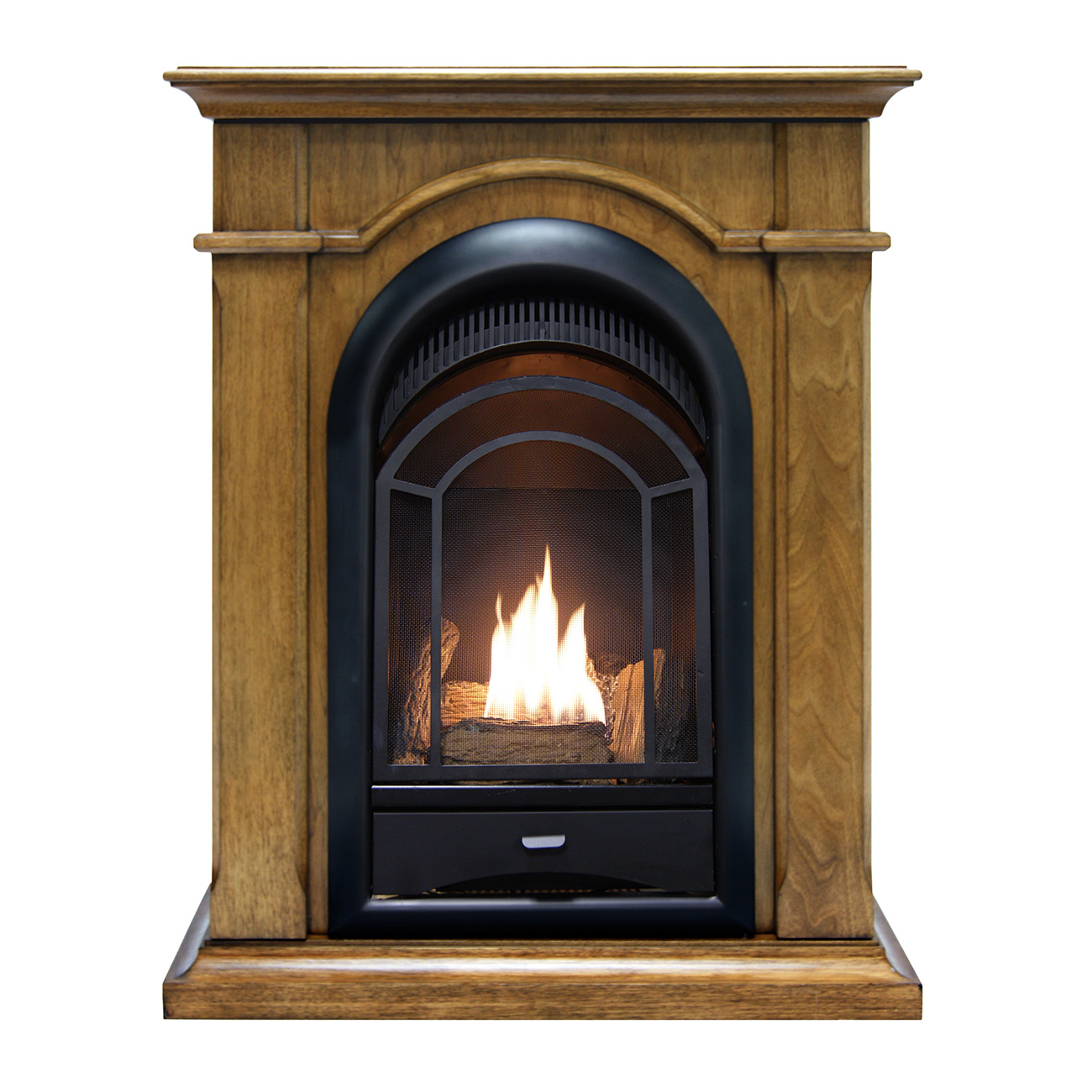Fireplace Doesnt Heat: ProCom Dual Fuel Ventless Fireplace, 15,000 BTU's