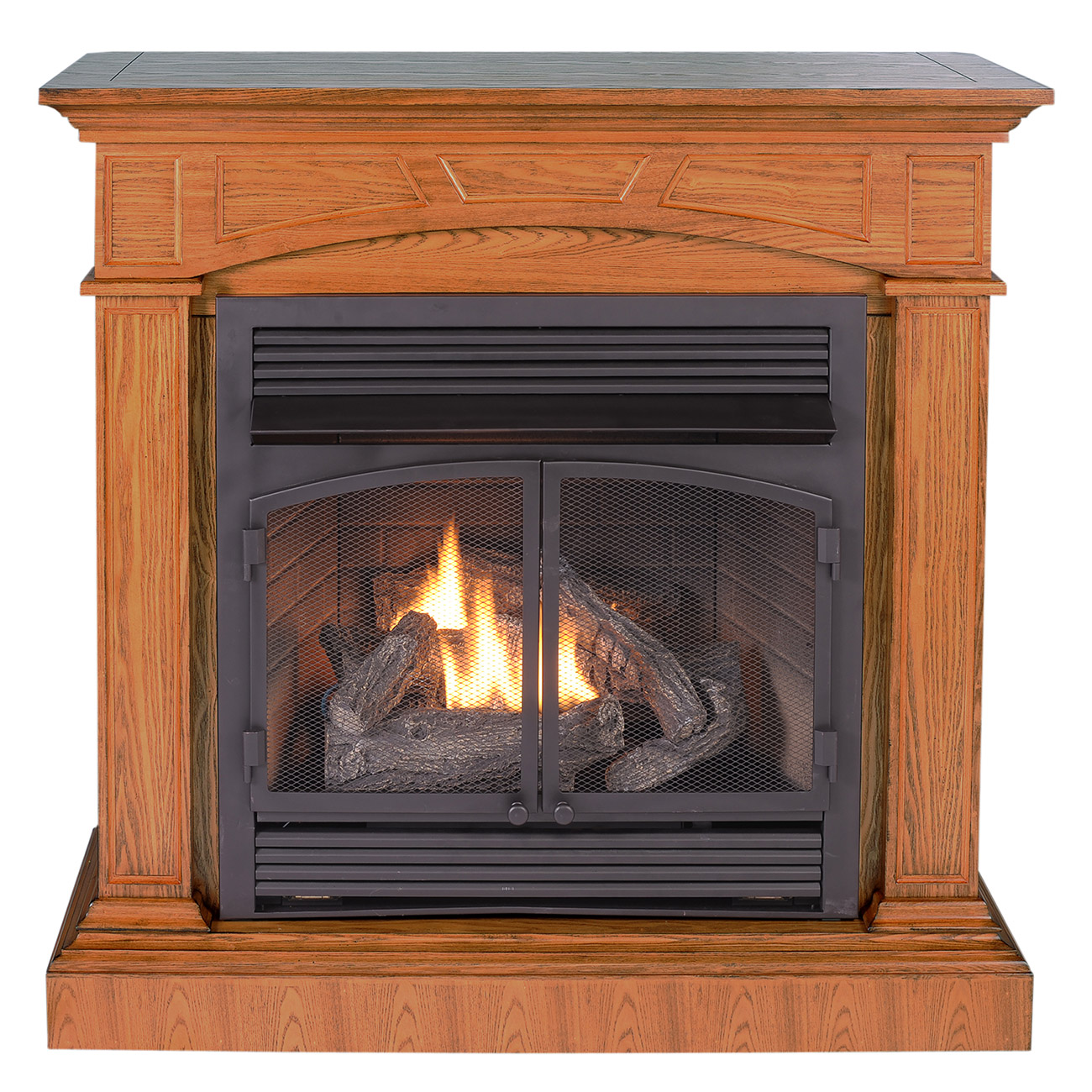 Ventless Fireplace: Ventless Fireplace System With Dual Fuel Technology