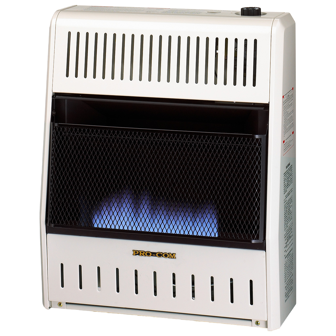 Ventless blue flame propane gas wall heater 20 000 btu for Best propane heating systems