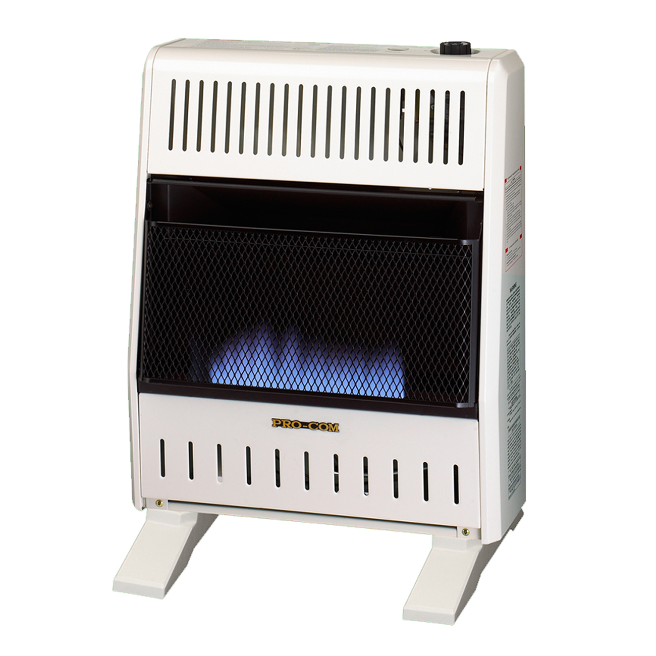 Dual fuel blue flame ventless wall heater 20 000 btu for Heating options for homes without gas