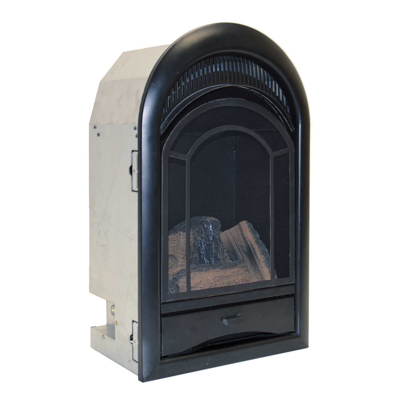 Ventless Fireplace Insert Thermostat Control Arched Door