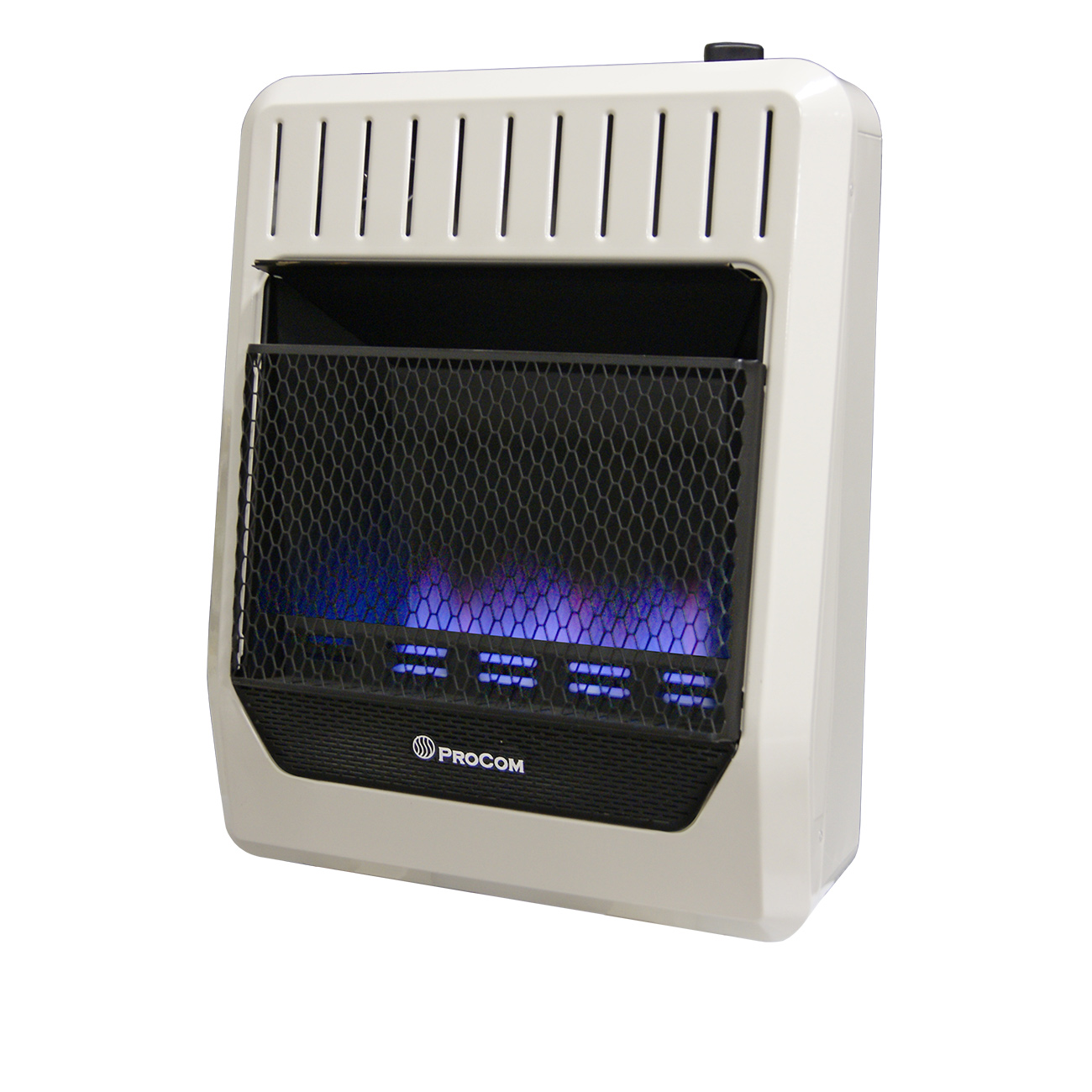 Ventless Dual Fuel Blue Flame Thermostat Control Wall