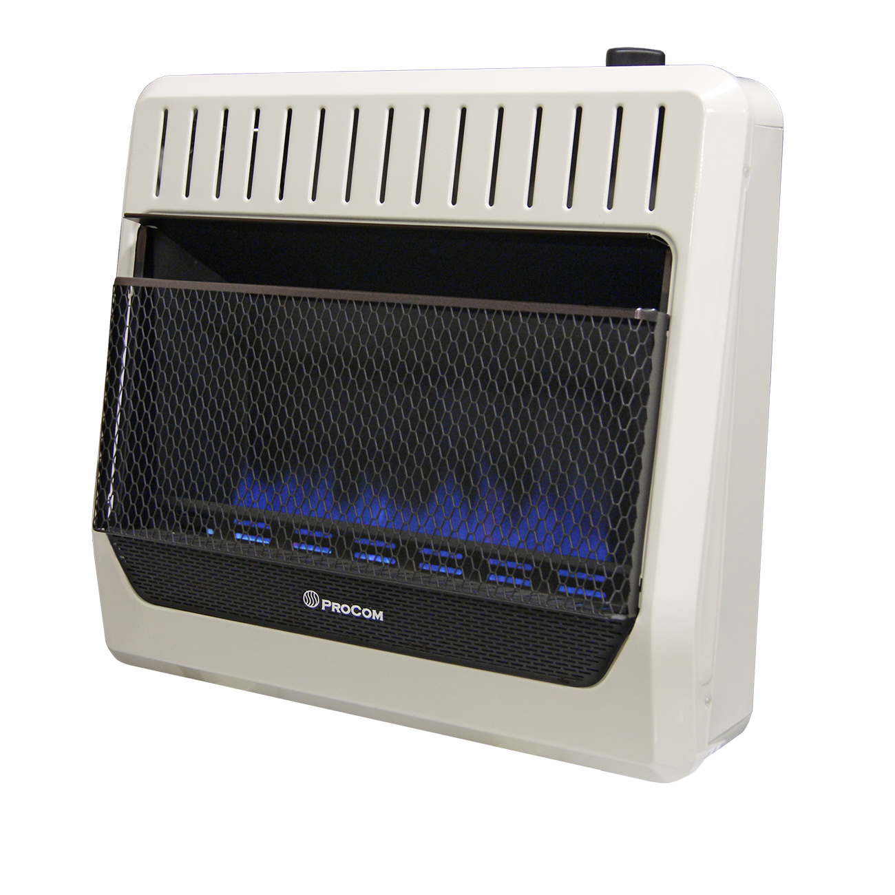 Ventless Dual Fuel Blue Flame Wall Heater Thermostat