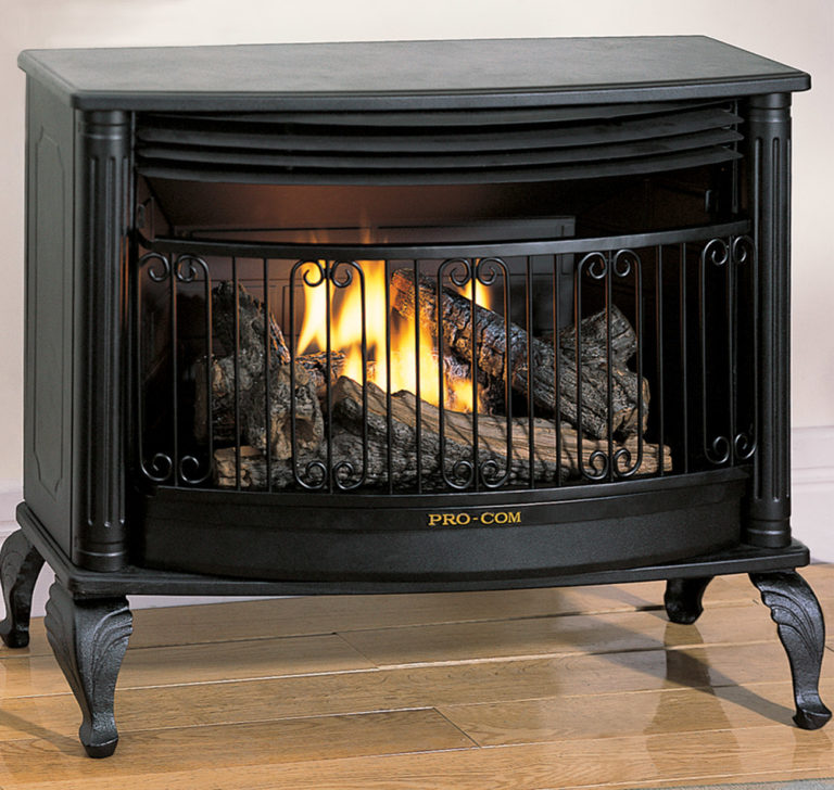 Forced Air Propane Heater >> Ventless Gas Stove Model QN300TYLA Series - ProCom Heating