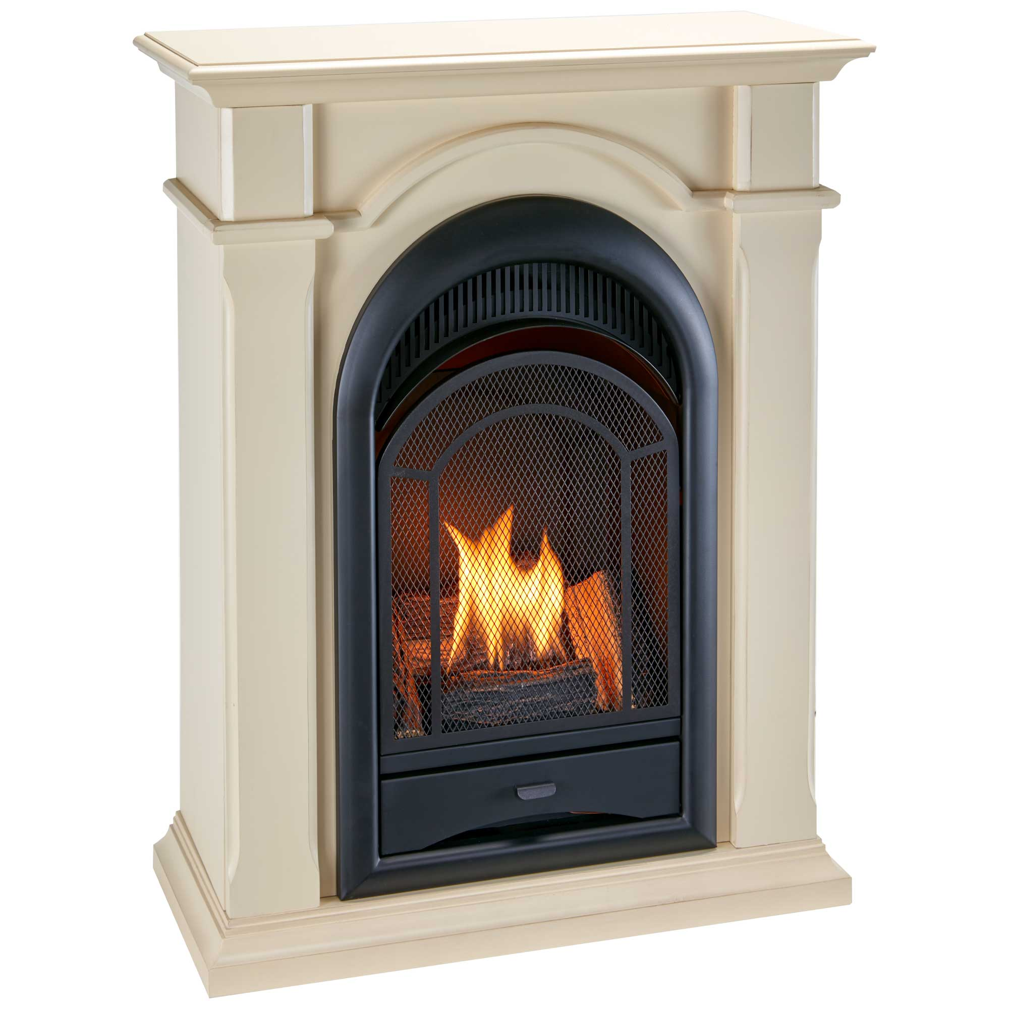 Procom Dual Fuel Ventless Gas Fireplace System With Corner