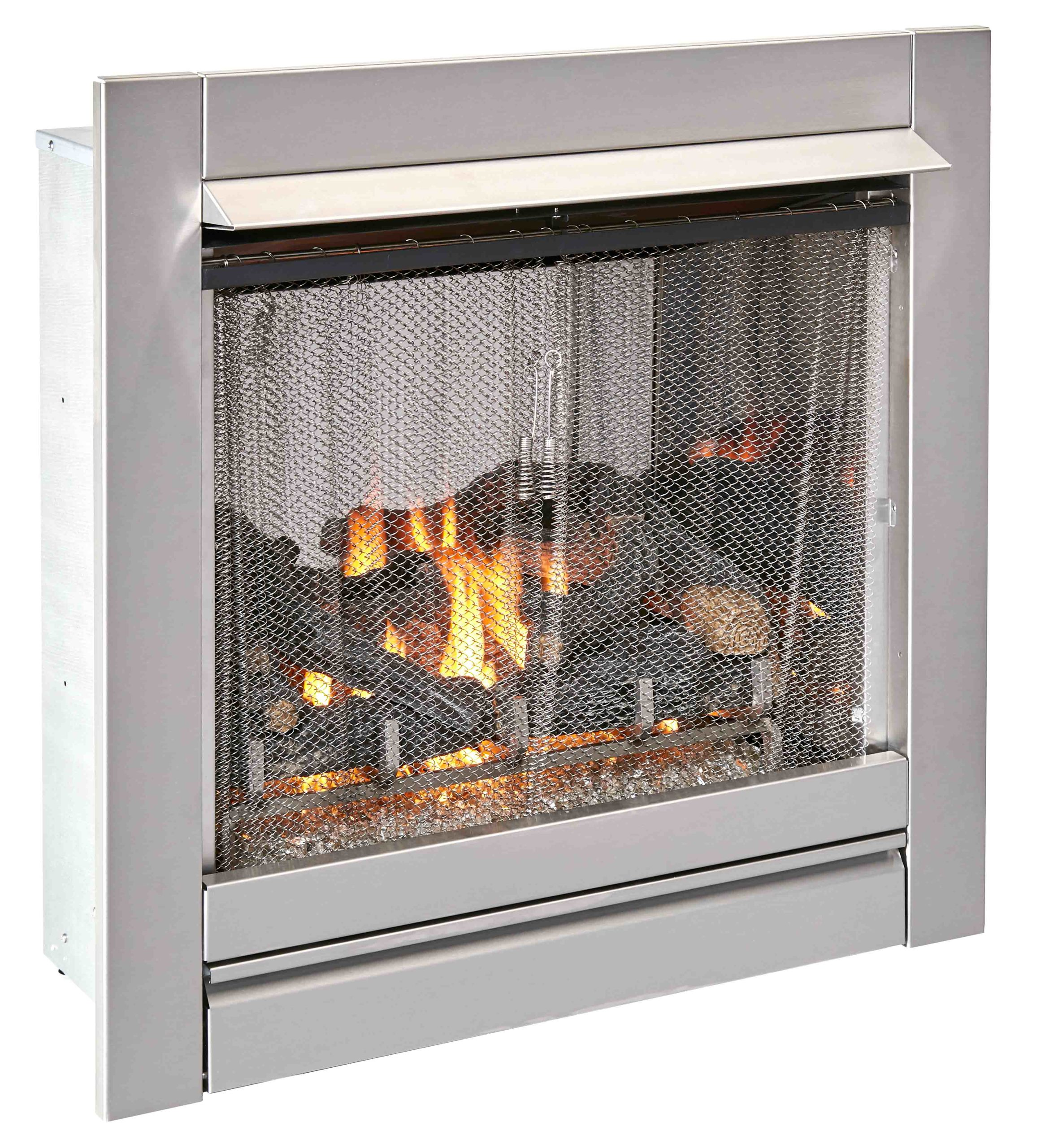 Duluth Forge Ventless Stainless Outdoor Gas Fireplace ...